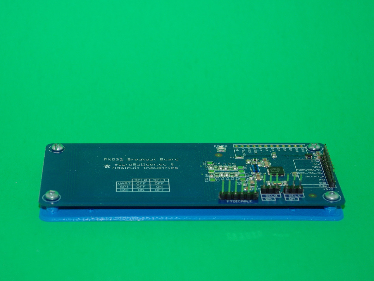 PN532 Breakout Board Mounting Plate And Drilling Guide