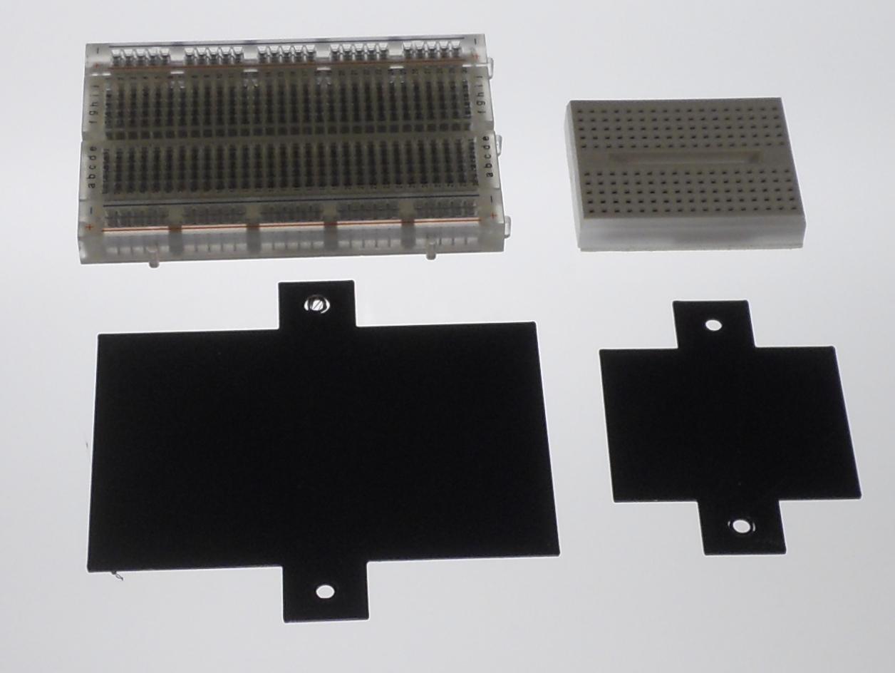 Mini and Half Breadboard Mounting Plates