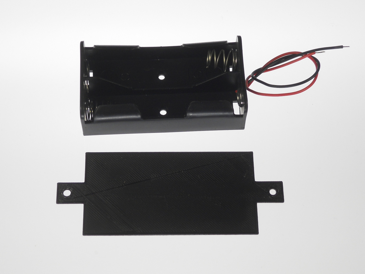 Dual 16850 Battery Holder Mounting Plate