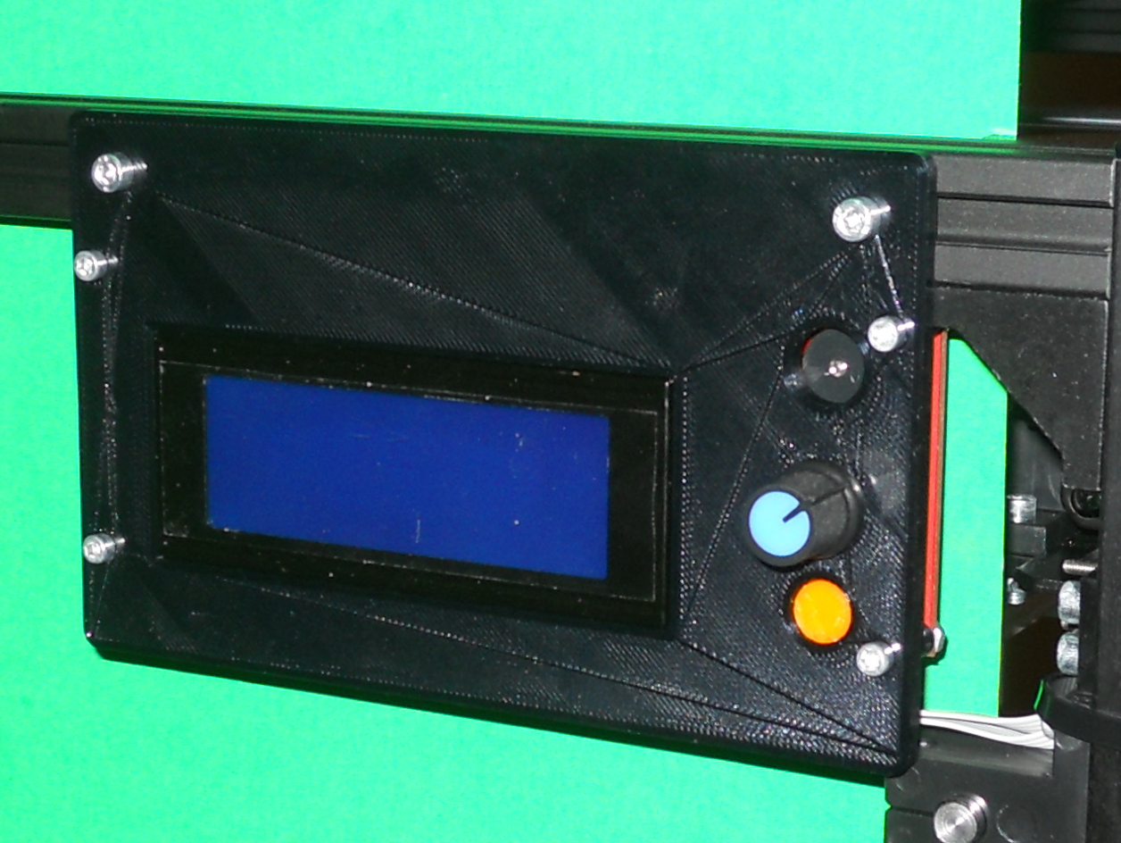 Reprap Discount LCD Holder for 2020 extrusion