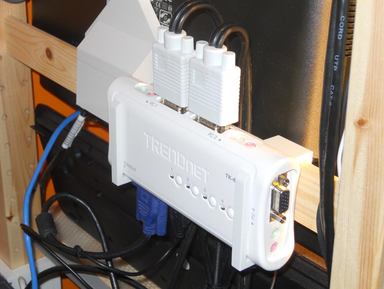 TRENDnet TK-409K KVM Holder for Ikea Ivar